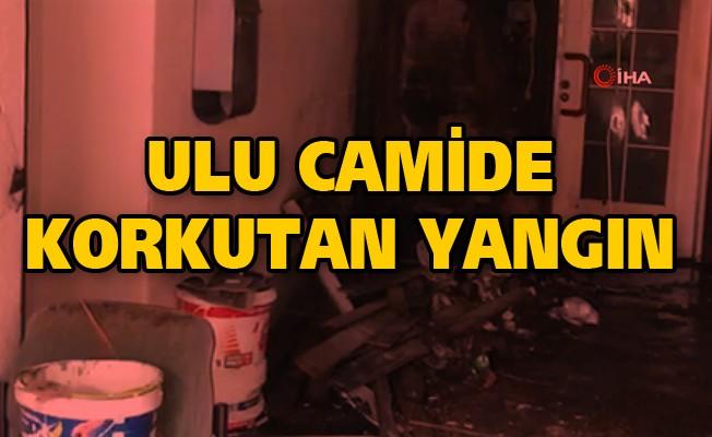 Ulu Cami'de Korkutan Yangın